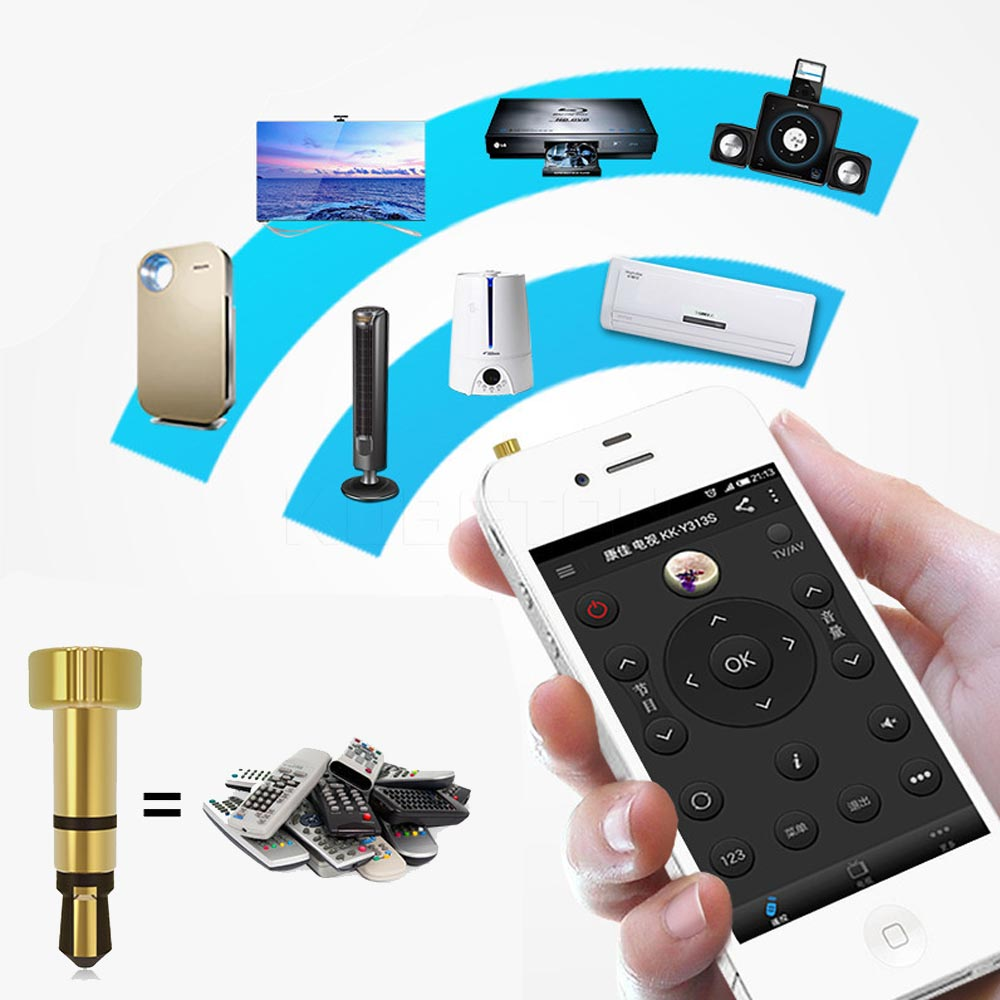 35mm Infrared Ir Wireless Remote Control Earphone Jack Plug For Air G11 Electronics Early Philips Colour Tv Kebidumei Iphone Ipad Touch Portable Mini Pocket Mobile Phone Smart