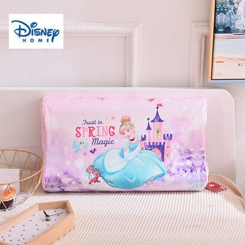 Disney princesse oreiller 100% coton matériel fille bébé chambre décor literie 3d impression LATEX mémoire oreiller voyage dormir santé