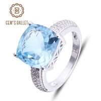 Rings Gem S Ballet 925 Sterling Silver Sky Blue Topaz Cut Nature Stone Gemstone Ring For