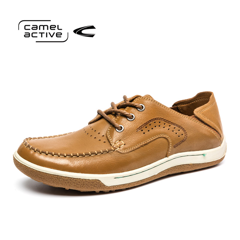 Camel Active Luxury Brand Handmade Men Casual Shoes Fashion Genuine Leather Men Shoes Comfortable Breathable Men Summer Shoes 2015 new fashion british martin causal genuine leather men shoes brand camel men shoes real leather men flats casual shoes man