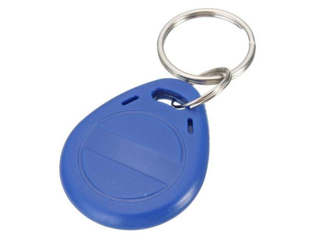 Rewritable RFID 125Khz T5577 Proximity ID Card Token Tag Key Keyfobs Key Fobs Chain Blue Copy Clone Blank Card winfeng 500pcs lot custom printing irregular pvc die cut combo key chain card 3 parts combo card easy snap off key card