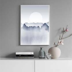 Туманный Горный пейзаж холст картины настенное искусство фотографии для гостиная декор в северном стиле дома книги по искусству плакаты и