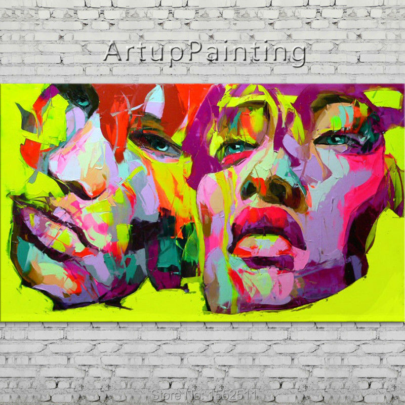 Palette knife portrait Face Oil painting Character figure canva Hand painted Francoise Nielly wall Art picture 06-10-1fPalette knife portrait Face Oil painting Character figure canva Hand painted Francoise Nielly wall Art picture 06-10-1f