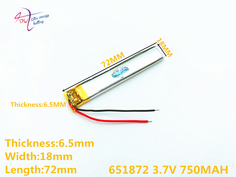 Mp5 Modell Spielzeug Mobilen Bluetooth BüGeln Nicht 3,7 V 750 Mah 651872 652070 Plib Polymer Lithium-ion/li-ion Batterie Für Gps Dvd Mp4 Mp3 Bluetooth