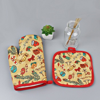 2019 Nordic Kitchen Microwave Gloves Potholders Oven Baking Gloves Home Garden Kitchen Dining Bake Ware