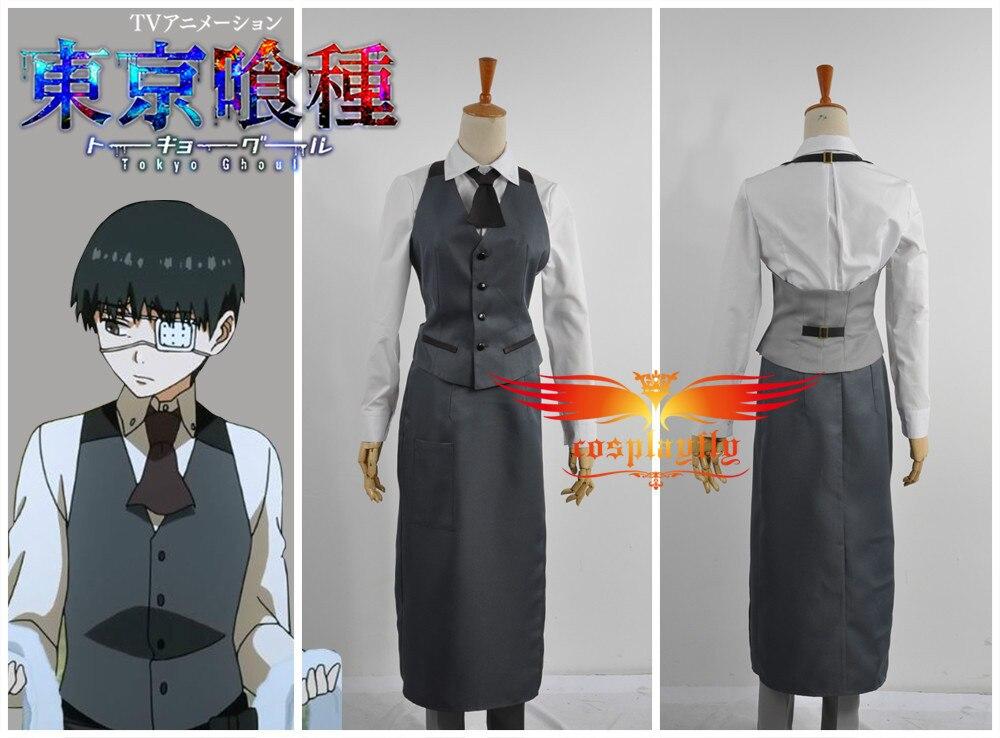 Aliexpress.com  Comprar Tokio Ghoul Ken Kaneki trabajo uniforme traje Cosplay  Costume Top chaqueta pantalones hombres moda ropa (W0508) de cosplay costume  ... ecc385c51839