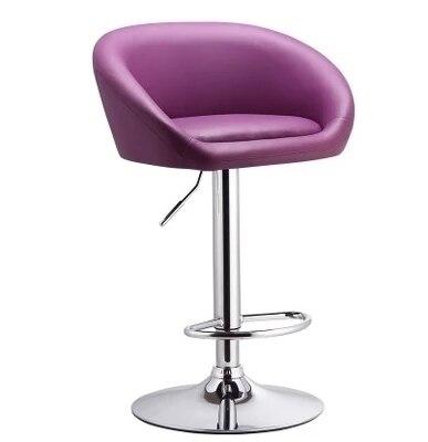 Chaise De Bar Salon Coiffure Tabouret Livraison Gratuite PU En Cuir Rouge Violet Vert Couleur Magasin Meubles Au Dtail Gros Dans Chaises