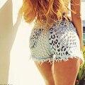 Venda quente Mulheres Courtes Taille Haute Glândula Rebite Shorts Jeans Feminino Jeans Verão Shorts Com Cintura Alta de Preços Por Atacado