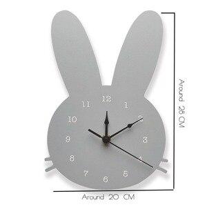 Image 5 - Decoración de habitación nórdica para niños, reloj de conejo, decoración de pared para sala de colgar, estilo escandinavo, decoración para niños, decoración nórdica para guardería