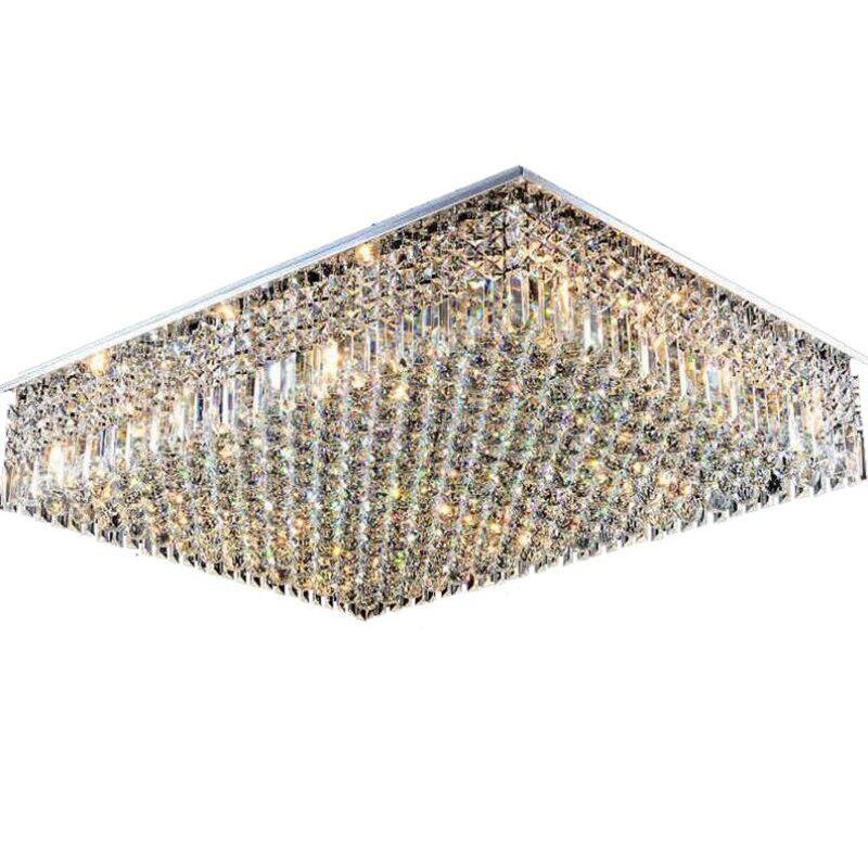 Jmmxiuz New Rectangular Pendant Lights Modern Lamp Ac110v: Jmmxiuz Rectangular Crystal Lamp Living Room Led Ceiling