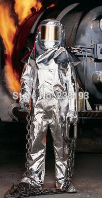 1000'C 1832'F fire fighting clothing, thermal radiation protection suits, fireproof clothing,high temperature protective sets