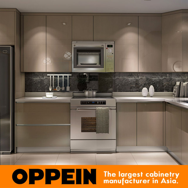 2016 New Design American Project Pvc Kitchen Cabinet In Living Room