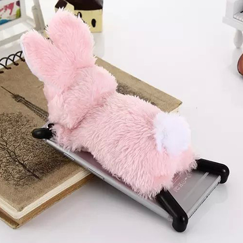 new product 4e4cb f1f2f US $19.6 |New Arrival Lovely Cute Plush Rabbit Dolls Warm Soft Hairy Rabbit  Phone Case For iPhone 6 6s / 6 6s Plus iPhone Case Cover Capa on ...