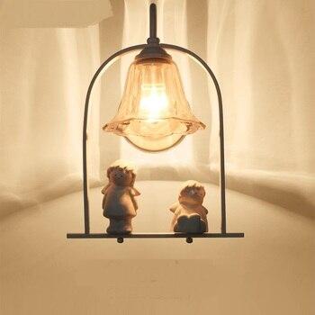 Anioł Kinkiet Lampka Nocna Sypialnia Styl Europejski Oryginalność Proste I Ciepłe Osobowości ścienne Dla Dzieci światła LO711313 YM