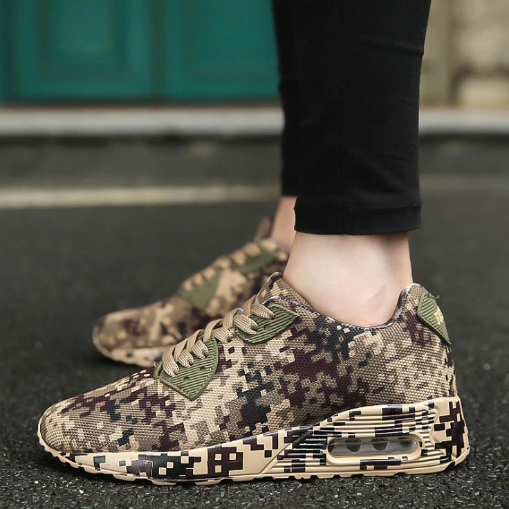 Chaussures army Coussin kaki Taille Automne Couple Camouflage Grande Casual Green Gris Et D'hiver New 2018 xHYgq1g7