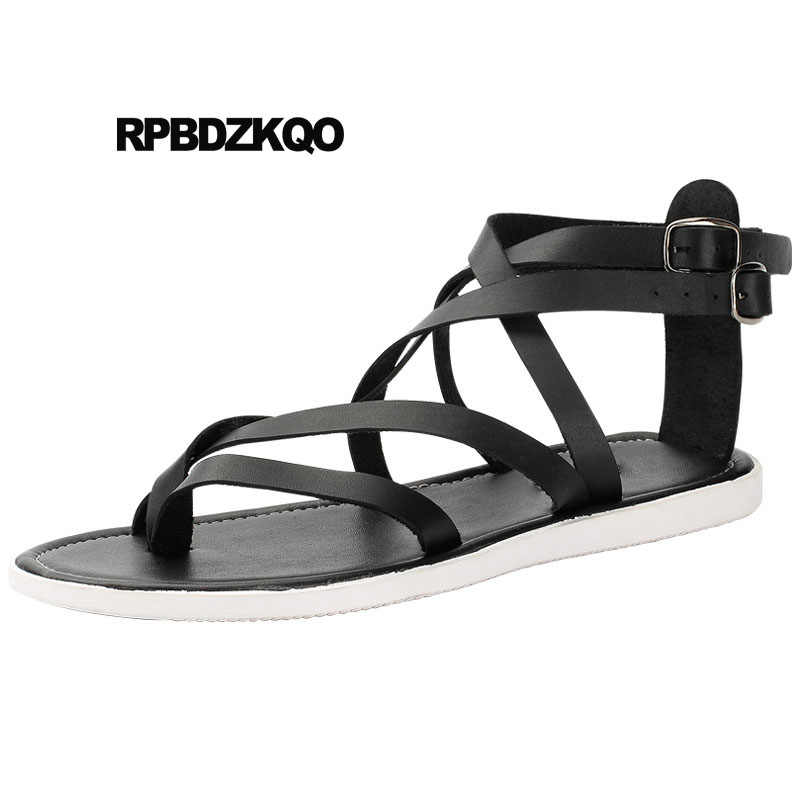 877e0893e3f Shoes Fashion Beach Boots Nice Roman Open Toe Strap Flat Men Gladiator  Sandals Summer Italian Breathable