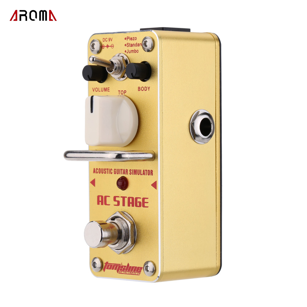 aroma aas 3 ac stage acoustic guitar simulator mini single electric guitar effect pedal with. Black Bedroom Furniture Sets. Home Design Ideas