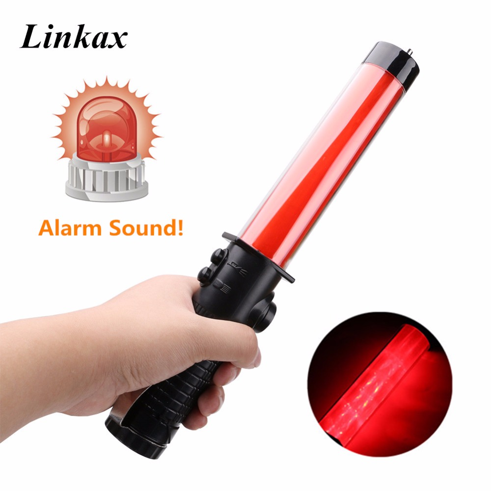 Self-denfense Baton Flashlight 3-Modes Roadside Flashing Traffic Light Warning Alarm Torch Lanterna AA For Outdoor Camping