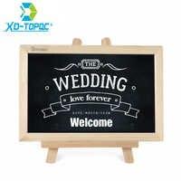 20*30cm Chalkboard Wood Easel Blackboard Wedding Pizarra Wooden Frame Dry Erase Bulletin Drawing Board Message Black Boards