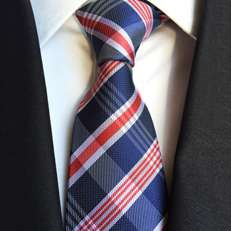 Necktie Fashion Men/'s Silk Tie Work Red Dot Ties Business JACQUARD WOVEN Tie