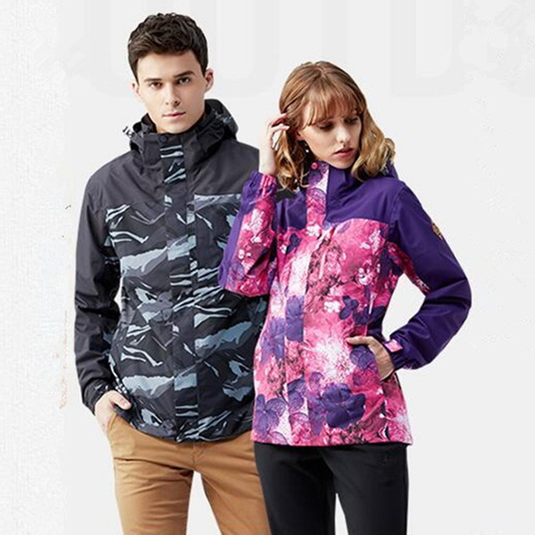Hiking Jacket Winter Women Men Windproof Waterproof Two-piece  Soft Jacket Travel Fishing Cycling Climbing Camping Ski Coats men and women winter ski snowboarding climbing hiking trekking windproof waterproof warm hooded jacket coat outwear s m l xl