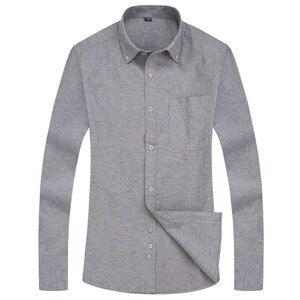 Image 5 - Oxford erkek rahat uzun kollu gömlek ekose çizgili 2020 bahar Slim Fit erkek İş elbise gömlek marka rahat nefes