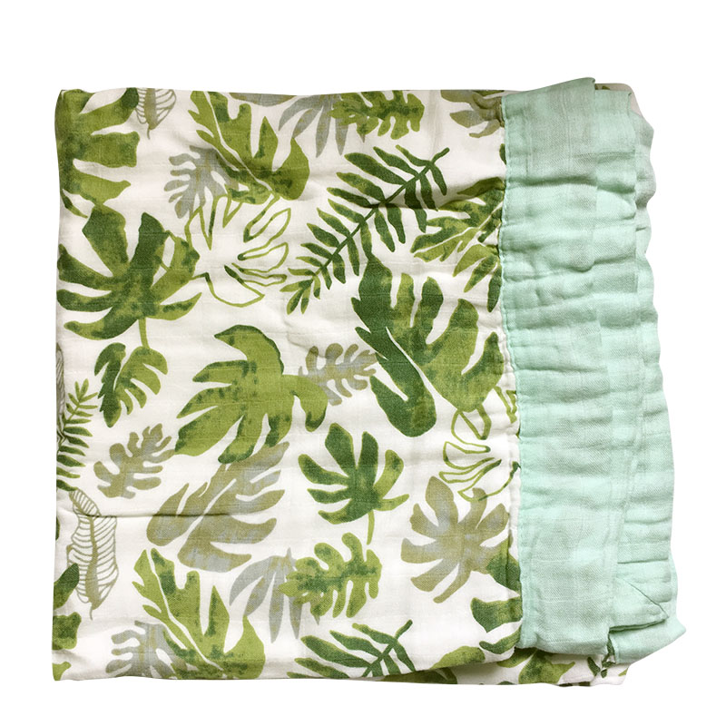 Bamboo Cotton Baby Blanket Two Layer Bamboo Baby Muslin Blanket  Bamboo Blanket Infant Wrap
