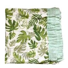 Хлопок, Бамбук детское одеяло два Слои Bamboo baby муслин Одеяло Bamboo Одеяло младенческой Обёрточная бумага