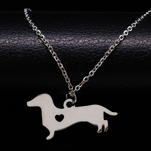 Stainless Steel Dachshund Dog Necklace For Women