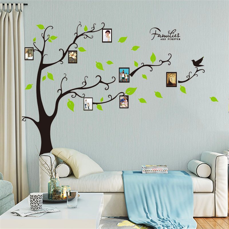 tree wall decals for living room forever family photo frame tree wall stickers for living 24061