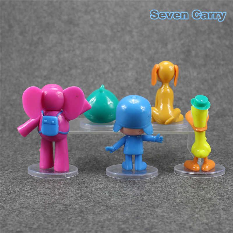 Anime Pocoyo Zinkia Pocoyo Elly Pato Loula sono de PVC Action Figure modelo de brinquedo de presente de aniversário 5 pçs/lote frete grátis