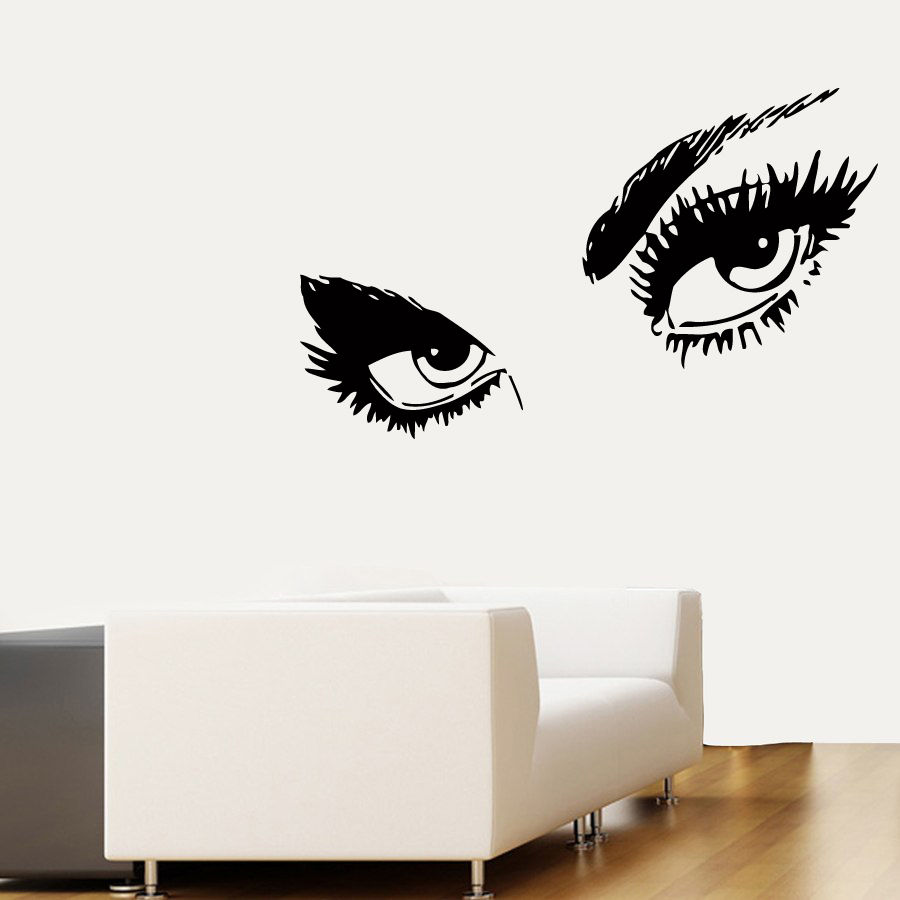 Hot women eyes wall decals art vinyl mural bedroom wall stickers hot women eyes wall decals art vinyl mural bedroom wall stickers carved beauty eyes walllpaper b 5 in wall stickers from home garden on aliexpress amipublicfo Images