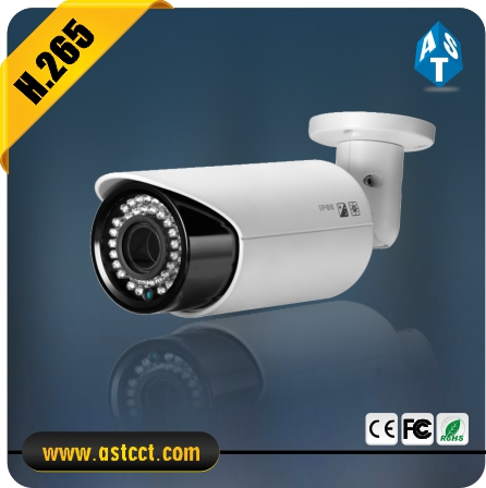 New CCTV Camera H.265 4.0MP IP Outside Adjust Lens CMOS Sensor IR Bullet CCTV Camera Surppot Onvif 2.4 POE Optional