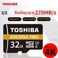 Карта памяти TOSHIBA M501 EXCERIA PRO U3 TF 32 ГБ SDHC 64 Гб SDXC UHS-II класс 10 U3 4K HD Скорость чтения до 270 МБ/с./с tf карта