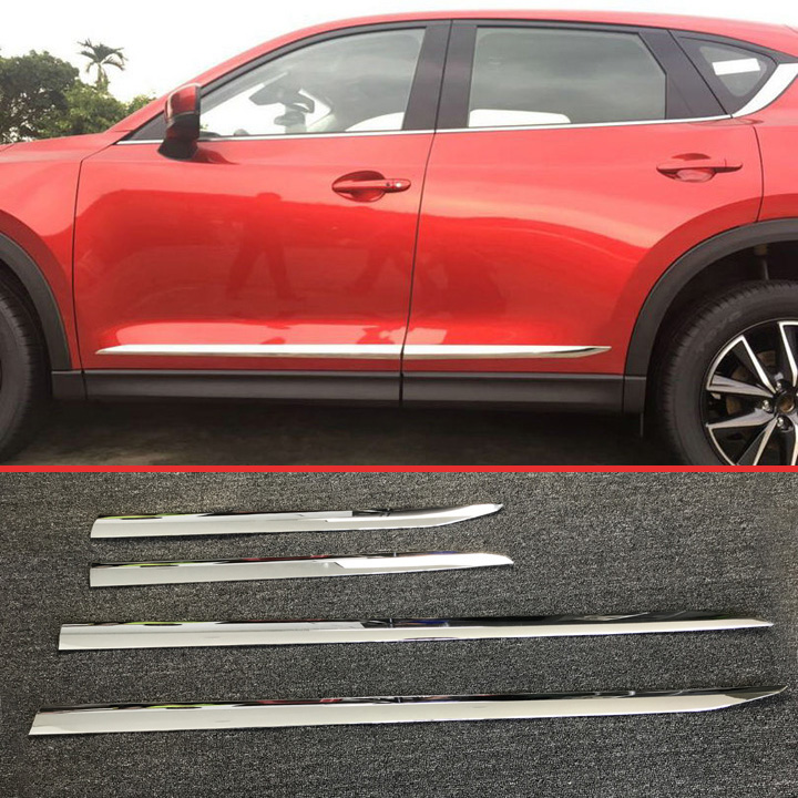 ABS Chrome Side Door Body Moulding Molding Trim For Mazda