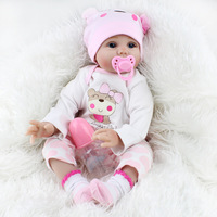 KAYDORA 55cm 22inch Silicone Reborn Baby Doll Soft Realistic Bebe Girl Dolls Newborn Baby Child Lifelike Birthday Christmas Gift