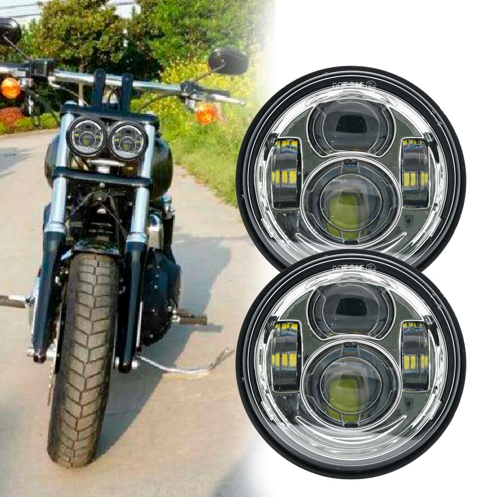 Motorcycle Twin Headlight Double Dual Lamp Motorcycle