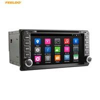 FEELDO 7 андроид 4.4.4 4 ядра автомобильный DVD gps радио для Toyota универсальный 2DIN RAV4/Corolla/HILUX/Land Cruiser Prado/Fortuner/Cam