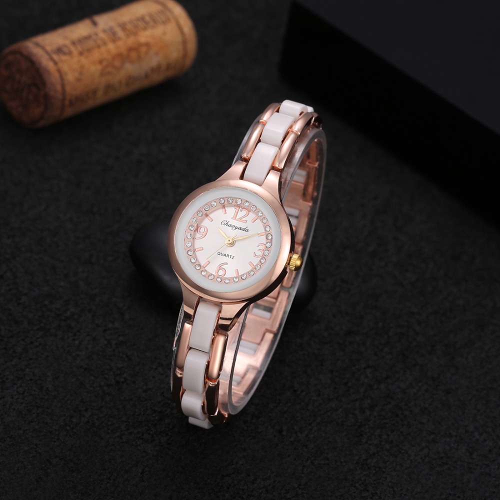 2016 High Quality Brand Chaoyada Crystals Designer Watches For Women ultra slim Ladies Quartz clock multicolor straps bracelet
