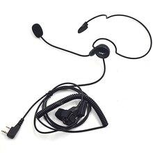 XQF 2 контактный наушник гарнитура с микрофоном наушники PTT для Kenwood Baofeng Портативная радиостанция с защитой UV5R