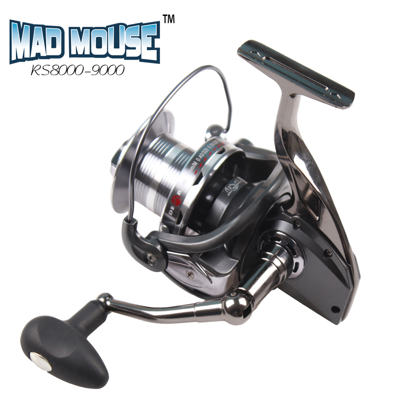 MAD MOUSE NEW 2017 RS8000-9000 Surf Casting Reel Long Shot Wheel Sea Fishing Reels Cast Reel metal arm and leg new type superior metal arm 13 1bb 4000 7000 series surf spinning fishing reels big long shot casting fly sea wire cup wheels