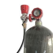 AC168101 חינם מRUS כל סט פיינטבול טנק PCP אוויר Refile פחמן מרוכב סיבי צילינדר עם שסתום מילוי תחנה