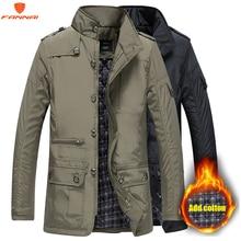 Parka Men Coats 2018 Winter Jacket Men Slim Cotton Outwear Warm Coat Top Brand Clothing Casual Mens Coat Tops size jacket M 5XL