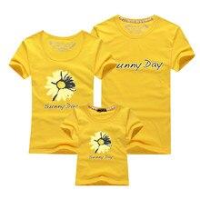 Casais de alta Qualidade T Camisa Flor Amarela Impressão Amantes Casal Roupas de Verão T-shirt 2018 Casual O Pescoço Tops T Camisa