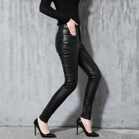 Autumn and winter new genuine leather pants women slim sheepskin trousers casual pants Female slim Korean pencil pants M 3XL