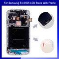 100% de alta qualidade para Samsung Galaxy S4 i9505 Display LCD Touch Screen digitador cor preta com moldura