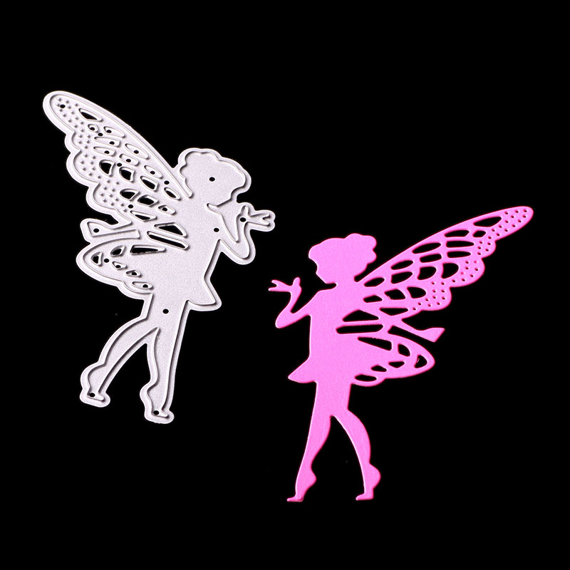 SCD1055 Angel Metal Cutting Dies For Scrapbooking Stencils DIY Album Cards Decoration Embossing Folder Craft Die Cuts Tools New