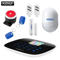 2017 NEW Arrival Kerui W193 WiFi 3G GSM PSTN RFID Wireless Smart Home Security Alarm System