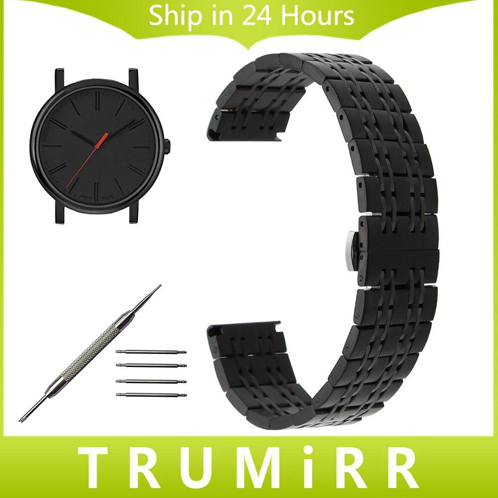 18mm 20mm 22mm Stainless Steel Watch Band for Timex Weekender Expedition Classic Originals Butterfly Buckle Strap Wrist Bracelet dewal расческа массажная black с пластиковыми зубцами brwt61