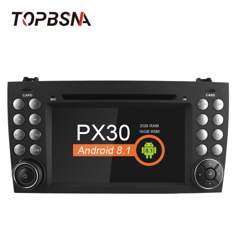 TOPBSNA 2 Din Android 8,1 Автомобильный мультимедийный для Mercedes-Benz SLK класса R171 W171 2008-2011 SLK200 SLK230 SLK280 gps головного устройства Аудио